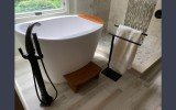 Aquatica True Ofuro Freestanding Stone Japanese Soaking Bathtub 96 0