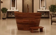 Aquatica TrueOfuro American Walnut Freestanding Wood Bathtub 2 (web)