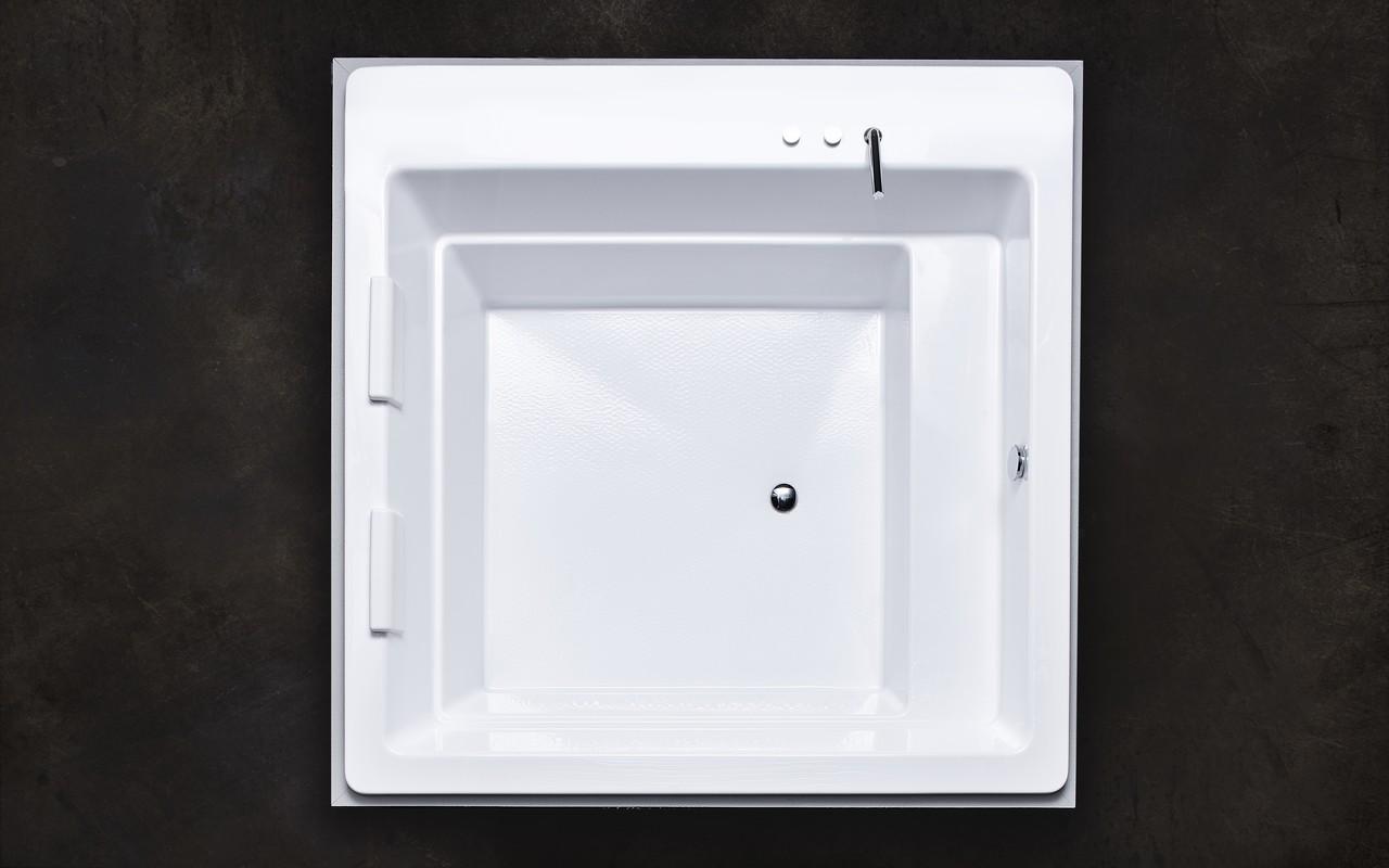 aquatica lacus wei e freistehende acryl einbauwanne. Black Bedroom Furniture Sets. Home Design Ideas