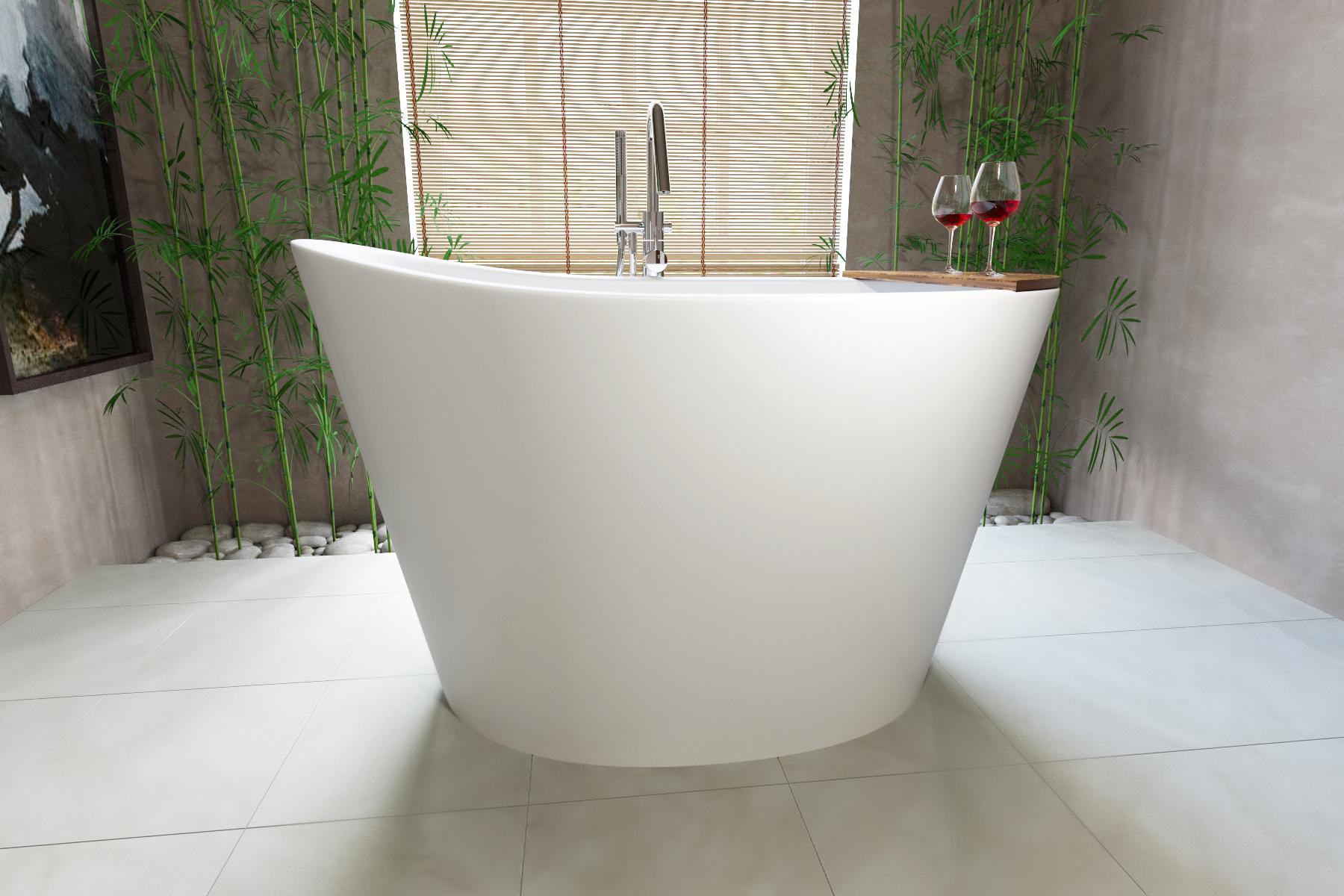 aquatica true ofuro freistehende stein badewanne. Black Bedroom Furniture Sets. Home Design Ideas