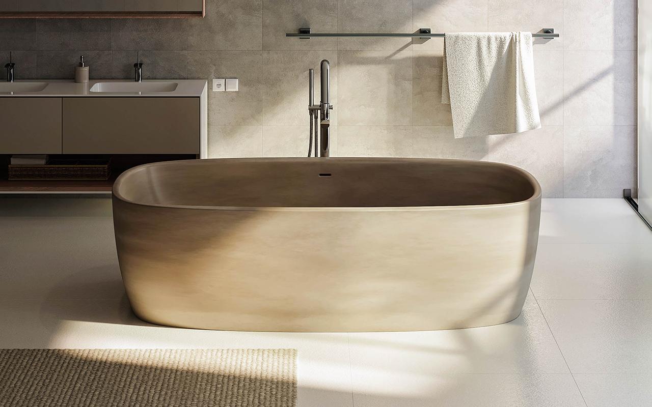 aquatica coletta sandstone freistehende stein badewanne. Black Bedroom Furniture Sets. Home Design Ideas