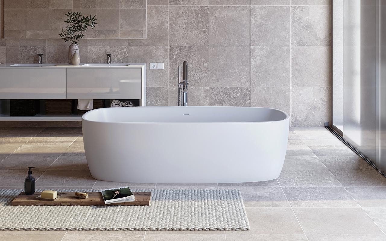 aquatica coletta freistehende stein badewanne. Black Bedroom Furniture Sets. Home Design Ideas