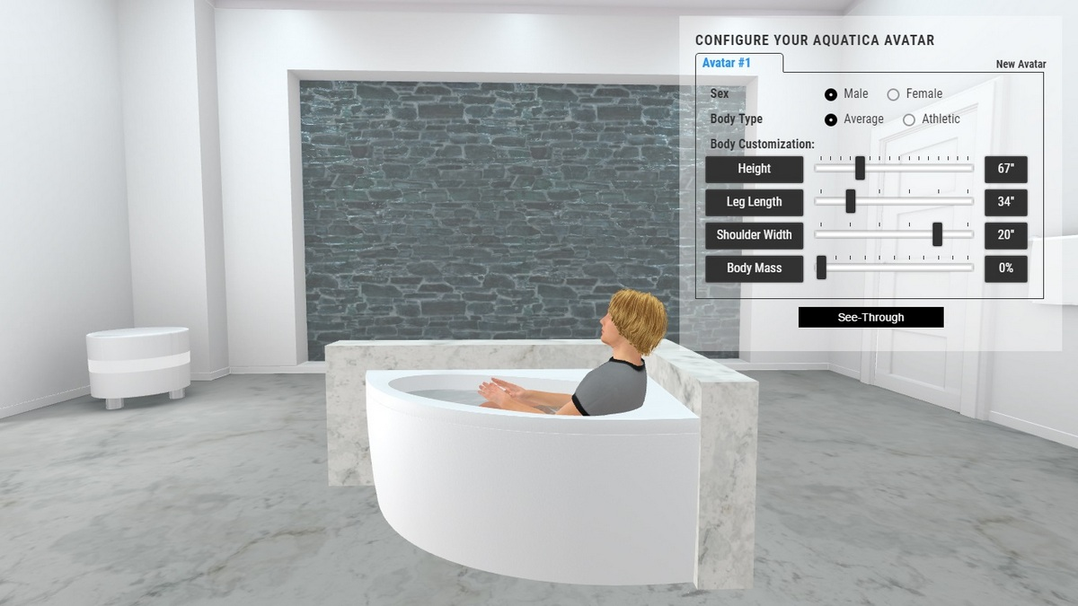Idea Bathtub 3D Body Position