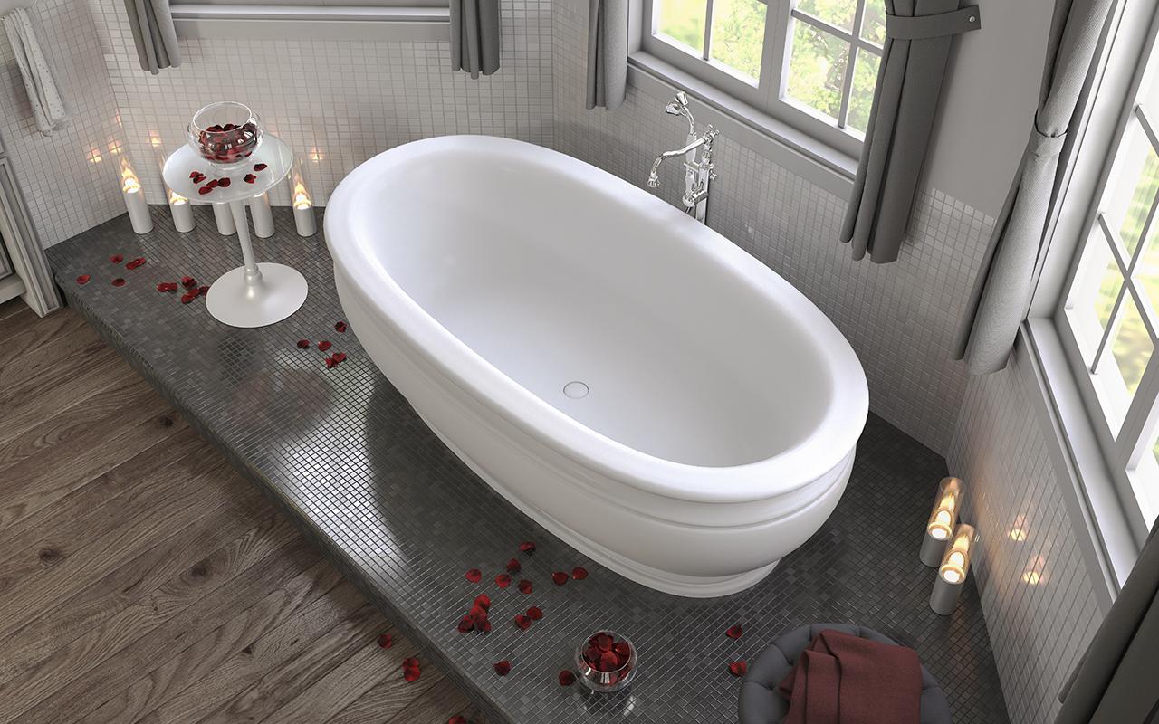 die olympian von savio vintage freistehende badewanne mit festoberfl che. Black Bedroom Furniture Sets. Home Design Ideas