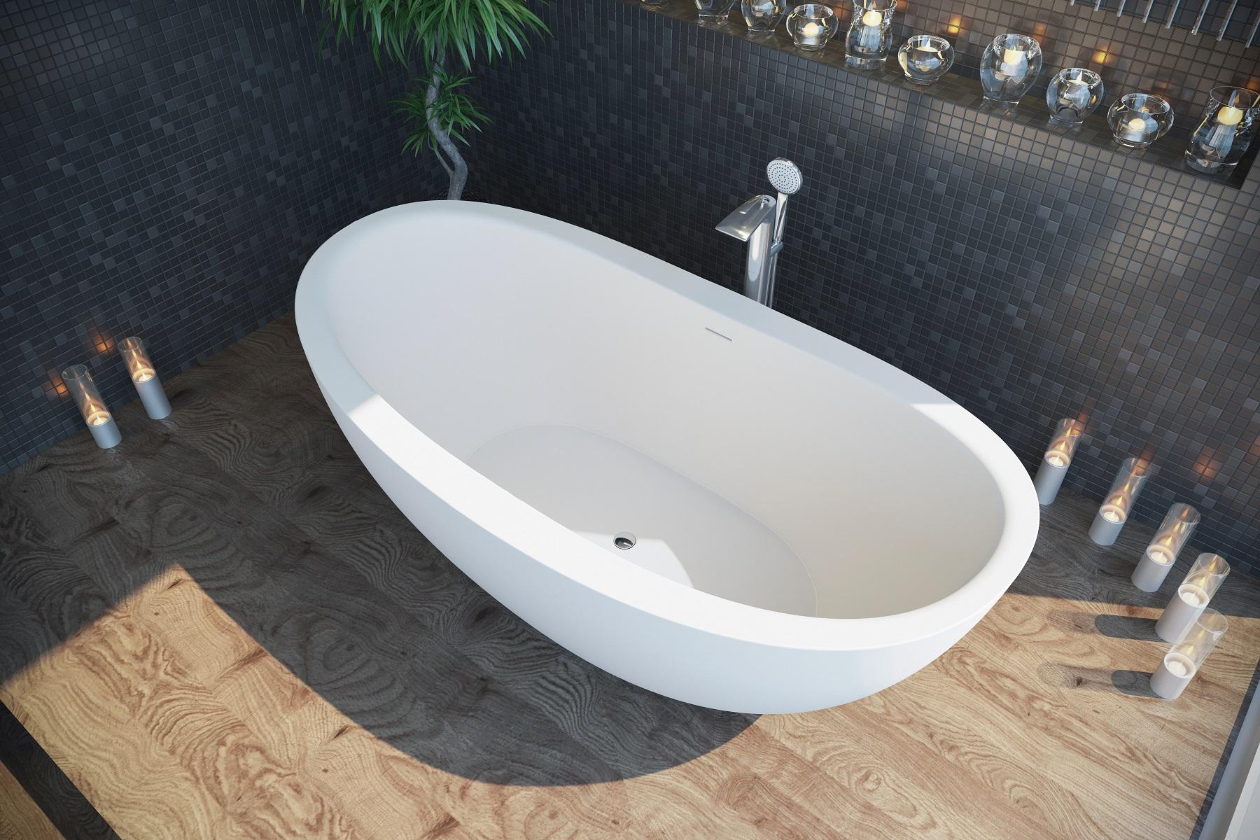 Aquatica Purescape™ 171M Freistehende Badewanne Aus Kunststein