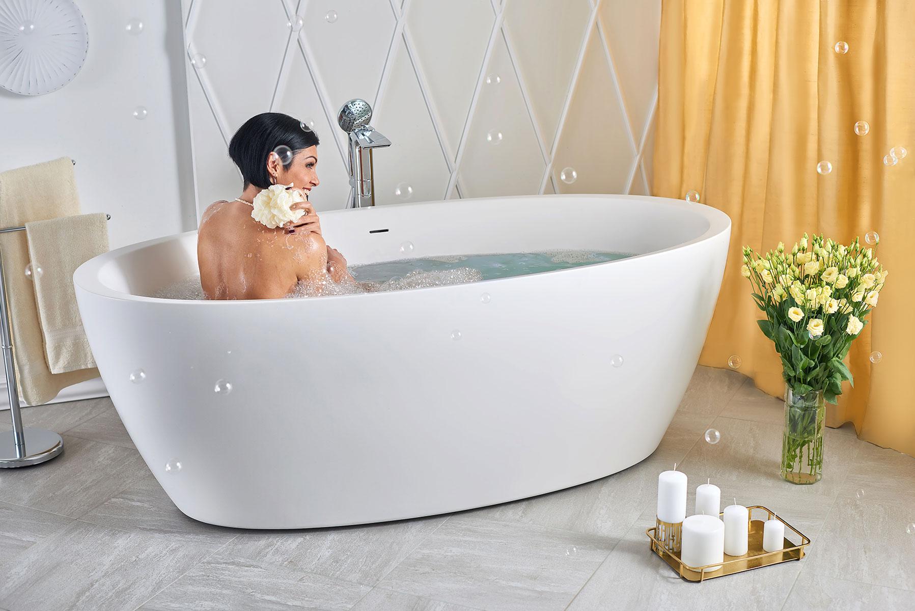 Aquatica Sensuality Wht™ Freistehende Badewanne Aus Kunststein