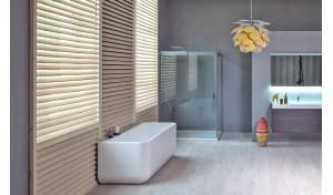 Aquatica Sincera-Wht™ Vorwandbadewanne aus Stein