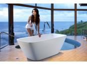 Aquatica Arabella-Wht™ Freistehende Wanne mit fester Oberfläche