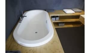 Aquatica Carol-Wht VelveX™ Unterputzbadewanne fein mattiert